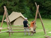 Construction d'une table tripode
